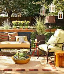 Outdoor Bamboo Rugs For Patios Deck Decorating Ideas Bamboo Rug Couchtable Planter Succulents