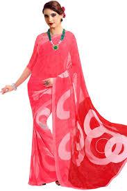 paaneri designer baby pink color georgette printed saree product