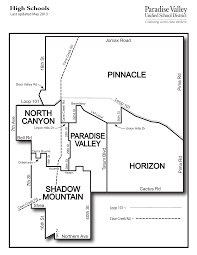 Map Of Chandler Az Paradise Valley Az Unified District 2017 2018