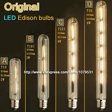 vintage flute led edison light bulb e27 2w 3w 4w 6w 110v 220v t10