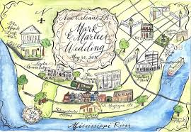 Map New Orleans Designs By Robyn Love Calligraphy Wedding Maps In Watercolor Part 2