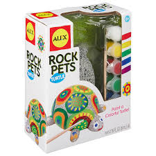 amazon com alex toys craft rock pets turtle toys u0026 games