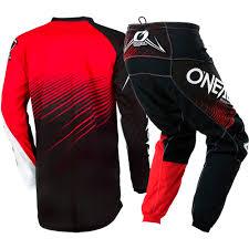 cheap motocross gear uk new oneal 2018 mx element black red jersey pants cheap