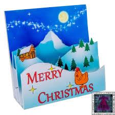 pop up christmas card u2013 chicken transparent aluminium net