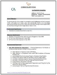 Best Resume Format For Experienced by Best Chartered Accountant Resume Sample Doc With Experience 1