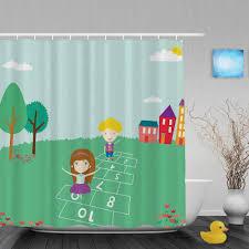 Curtain Cartoon by Online Shop Cartoon Cute Elements Kids Shower Curtain Boys Girls