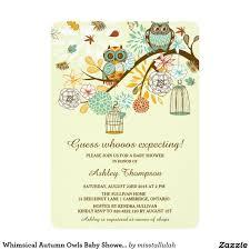 whimsical autumn owls baby shower invitation 5
