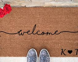 welcome mat etsy