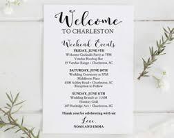 Destination Wedding Itinerary Template Wedding Itinerary