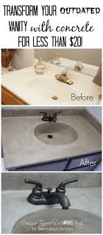 how to build a concrete sink must pin learn how to transform a cultured marble vanity with