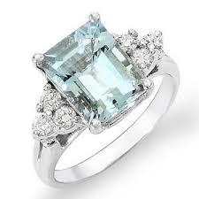 aquamarine diamond ring aquamarine diamond ring ebay