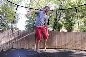 Backyard Gymnastics Equipment Eat Sleep Jump Repeat How Springfree Made Our Backyard Better