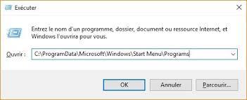 raccourci bureau windows 10 ajouter un raccourci du bureau dans le menu démarrer
