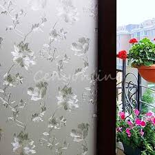 stickers pour fenetre cuisine hibiscus opaque givré verre pour fenêtre translucide porte