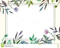 Marriage Invitation Card Templates Floral Border Wedding Invitation Card Template Stock Illustration