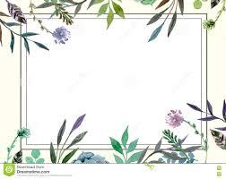 Wedding Invitation Card Templates Floral Border Wedding Invitation Card Template Stock Illustration