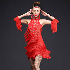 2017 women competition dance clothes sequins costume set with