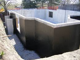 Cement Walls In Basement by Basement Waterproofing Methods In New Home Construction
