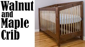 Walnut Nursery Furniture Sets by Making An Adjustable Height Walnut And Maple Baby Crib Youtube
