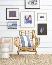 gallery wall moment venice rattan chair via serena u0026 lily