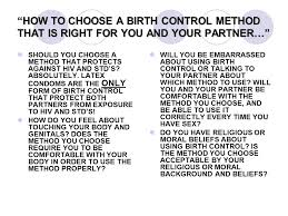 How To Feel Comfortable With Your Body Birth Control Options Ppt Video Online Download