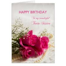 twin sister cards u0026 invitations zazzle co uk