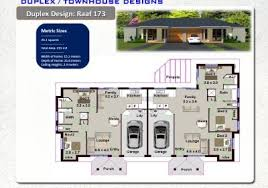 DUPLEX  TOWNHOUSE DESIGNS Duplex Australian Duplex Plans - Duplex homes designs