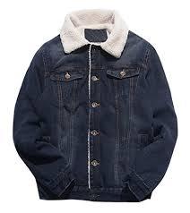 Rugged Outdoor Jackets Letsqk S Casual Unlined Rugged Wear Trucker Jean Denim Jacket