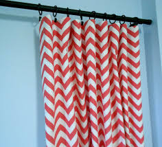 Pink Chevron Curtains Coral Colored Curtains Trellis Coral Color Chic Eclectic Office