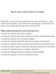 Sample Clerical Resume by Top 8 Court Clerk Resume Samples 1 638 Jpg Cb U003d1427857658