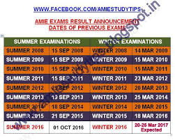 iei update winter 2016 amie section a b results declared