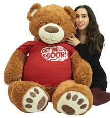 get well soon teddy get well soon teddy 5 ft soft 60 inch wears removable