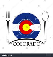 State Flag Of Colorado Food Logo Made Flag Colorado Stock Vector 525028654 Shutterstock