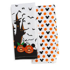 mickey and minnie mouse halloween kitchen towel set 22 disney