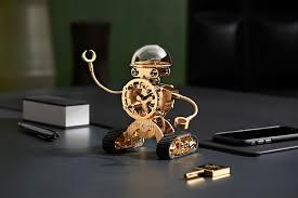 mechanical desk clock sherman a cute mechanical robot desk clock