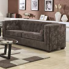 furniture single cushion sofa tweed couch velvet couch