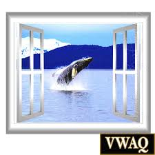 humpback whale breach scene wall decal window frame view outdoor home peel and stick wall decals 3d window frames humpback whale breach scene wall decal window frame view outdoor wall mural vwaq gj95