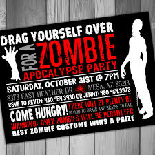 Zombie Party Invitations Kawaiitheo Com