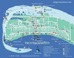 Map Of Massachusetts Coast by I Am Provincetown Map With Streets Parkings Beaches And