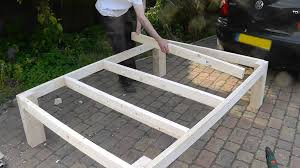 Platform Bed Project Plans by Bed Frames How To Build A Bed Diy Platform Bed Plans With