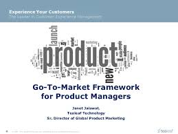 product marketing framework for product or service launch