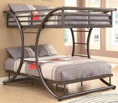 modern grey metal frame for awesome full over full bunk beds with