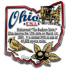 Ohio On The Map by Ohio Digital Vector Map With Counties Major Cities Roads Rivers