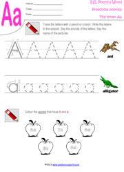 preschool worksheets letters a z tracing kindergarten phonics