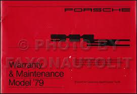 porsche 911 maintenance schedule 1979 porsche 911 sc warranty and maintenance schedule manual original