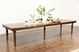 Antique Dining Tables Sold Oak Quarter Sawn Square 1900 Antique Dining Table 9 Leaves