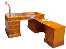 Eckschreibtisch Schreibtisch Eckschreibtisch Büromöbel Englischer Stil Aus Eibe