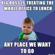 Office Boss Meme - list of synonyms and antonyms of the word lunch with boss meme