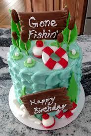 cool fishing birthday cake for men