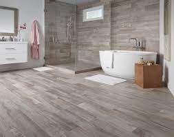 wood look tiles bathroom sun washed beige light brown tones with a weathered like finish